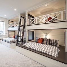 Awesome bunk room by @sitamontgomeryinteriors! My nieces & nephews would love this! #bunkbeds #bunkroom #shiplap #homedecor #homedesign #interiordesign #realestate #dreamhome #inspo #decor #beautifulhomes #bedroom #kidsbedroom #luxury