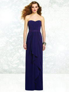 abe31cb1465 Social Bridesmaids 8132 Bridesmaid Dress-The Social Bridesmaid style 8132  is a strapless nu-georgette dress featuring a pleated detail on the bodice  and ...