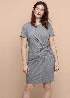 Sukienka z marszczeniem - Sukienki Duże rozmiary | Violeta by MANGO Polska