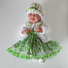 "Handmade Baby Dolls Clothes for 12""- 14"" BERENGUER / CUPCAKE La Newborn / Reborn"