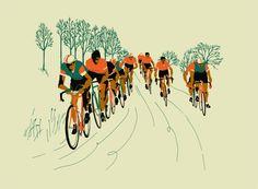 Las ilustraciones ciclistas de Eliza Southwood