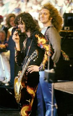 Jimmy Page and Robert Plant of Led Zeppelin #JimmyPage #RobertPlant #LedZeppelin #Zeppelin #LedZep #Zep