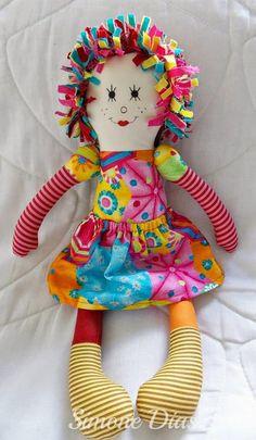 Bonequeiras sem Fronteiras   Bonecas de pano, amor de verdade.: Tutorial - Boneca Emília, por Simone Dias