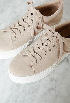 these are platform sneakers form forever 21 and they are the cutest cream  color . 75141cf4ca