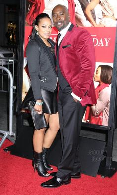 Morris chestnut and his wife