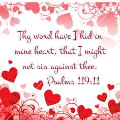 Psalm 119:11 KJV Bible Verses King James Scripture Memory Verse Valerie McDaris