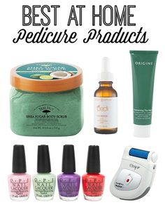 Best At Home Pedicure Products -- these are perfect! I don't always have the time or money to go for pedicures. I can get the same look at home with these products!