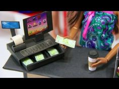 How to Make a Doll Cash Register - This lady is amazing! She has tutorials for Barbie - AG dolls and everybody in between!.