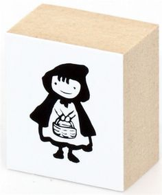 cute Little Red Riding Hood wooden stamp 1