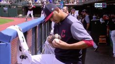 Carlos Carrasco Is An Artist And This Baseball In The Image Of José Ramírez Is His Masterpiece