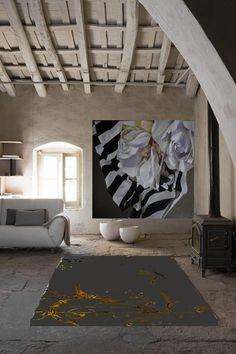 Diana Watson painting and carpet design
