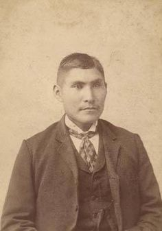Chappo Geronimo, son of Apache leader Geronimo, while at the Carlisle Indian Industrial School in Pennsylvania.