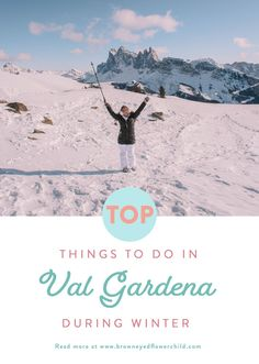 Top things to do in Val Gardena during the winter. The best winter adventure in the Italian Dolomites. #ValGardena #ItalianDolomites #ItalianAlps #WinterTrip #WinterTravel #SkiTrip #ValGardenaSkiing #ValGardenaActivities #ThingstodoinValgardena #SouthTyrol #NorthernItaly