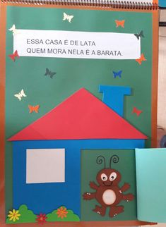 "Atividades Escolares: Livro gigante ""A casa e seu dono"" Elias José Bingo, Education, Frame, Books, Diy, Tall Tales Activities, Christmas Activities, Kids Activity Ideas, Literacy Activities"