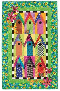 Birdhouses of Key West quilt