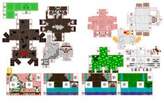 Minecraft Papercraft Paper Toys Minis