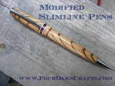 Check out this introduction to modified slimline pens. I share several pointers and examples of these customized pens. This method will really help you be more artistic with your pens.
