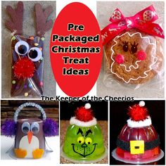Pre-Packaged Christmas Treat Ideas - The Keeper of the Cheerios, Pre-Packaged Christmas Treat Ideas Unfortunatley today most schools will not allow for homemade treats at holiday parties, so we have compiled a bunch. Christmas Treat Bags, School Christmas Party, Preschool Christmas, Toddler Christmas, Christmas Goodies, Diy Christmas Gifts, Holiday Crafts, Holiday Fun, Christmas Holidays
