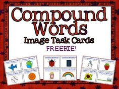 A set of 20 FREE Compound Word Task Cards using images from the lovely Ashley Hughes . I created these cards to be used with my 3rd grade RtI students as a quick review. Students seem to constantly get tripped up on compound words when, really, they should be easy as pie to read!