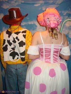 Woody and Bo-Peep - Halloween Costume Contest via @costume_works