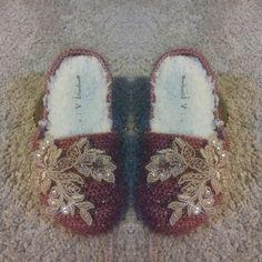 Crochet slippers by elvihandmade on Etsy