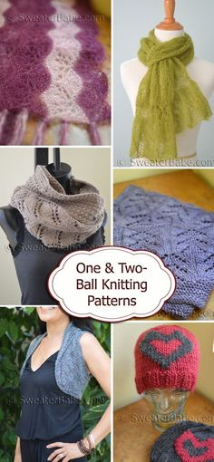 57f192daeecdf 10 Best One-Ball and Two-Ball Knitting Patterns images