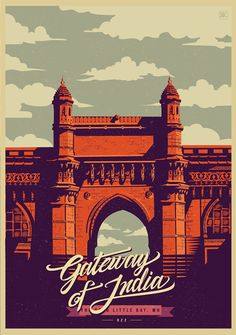 illustrations of india - Ranganath Krishnamani's illustrations of India showcase iconic landmarks located in the beautiful country. Gig Poster, Retro Poster, Poster Vintage, Indian Illustration, City Illustration, India Art, Creative Posters, Vintage Travel Posters, Illustrations Posters