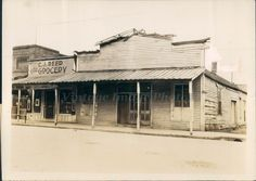 1928 Photo CJ Reed Grocery Lonoke County Robinson Murder Robinson Senator Crime