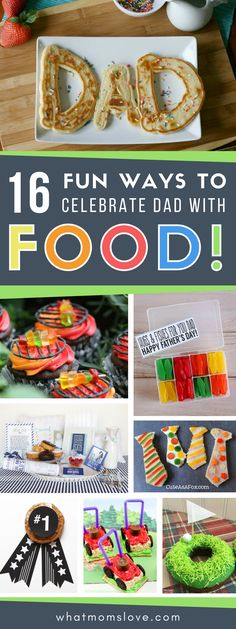 Fathers Day Food Ideas for Dad or Grandpa | Fill their bellies with these fun DIY gift ideas including breakfast in bed, snacks, treats and crafts! #fathersday