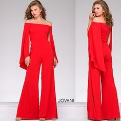 Check out this hot red jumpsuit by Jovani. Style 39598 now available online at www.miabellacouture.com. #miabellacouture #californiaglam #jovani #jovanifashions #jumpsuit #39598