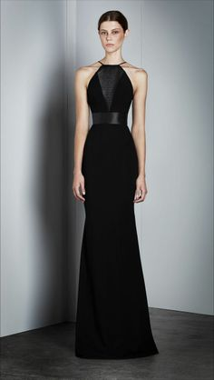 Alex Perry - Ekaterina – Halter Gown in Black/Black