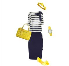 """""""Bows ~n~ Yellow"""" created by Sarah Schwing on Polyvore"""