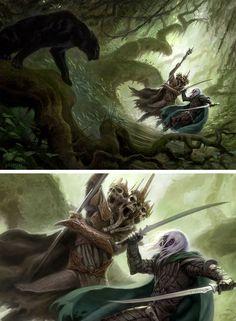The last threshold by Todd Lockwood Fantasy Art Men, High Fantasy, Medieval Fantasy, Sci Fi Fantasy, Fantasy World, Drizzt Do Urden, Lotr, Forgotten Realms, Elves And Fairies