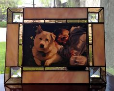 Handmade stained glass picture frame for 4 x 6 by AmberglassStudio