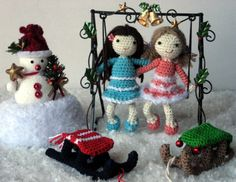 12/5/13  Mailin and Skyla - link to free pattern and also a link to a free pattern for the dome, sled and basket