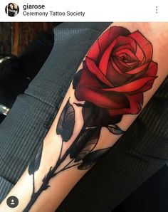 Rose tattoo by Gia Rose