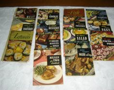 Vintage Lot, Encyclopedia of Cooking series, soft covers, 14 cookbooks, collection, 1940s & 1950s, JUST REDUCED, ready to ship