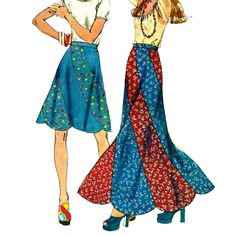 Simplicity 6261 1970s Misses Bias Swirl Skirt  Pattern by mbchills, vintage sewing pattern