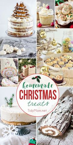 'Tis the season to satisfy your sweet tooth and start your holiday baking with homemade Christmas treats. Whether you're looking for an impressive cake for entertaining or cookies and fudge to deliver as gifts, I've got you covered. visit http://TidyMom.net for all the recipes!