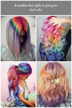 8 rainbow hair styles to give your look color rainbow hair 8 rainbow hair styles to give your look color Rainbow Hair, Designer Wedding Dresses, Wedding Designs, Dreadlocks, Hair Styles, Color, Beauty, Hair Plait Styles, Colour