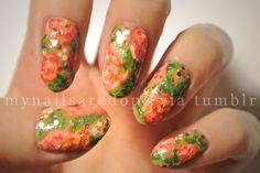 Watercolor Rose Nails!
