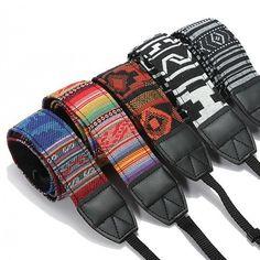 Vintage Hippie Style SLR DSLR Camera Neck Shoulder Strap Belt Durable Cotton for Canon for Nikon for Pentax for Sony