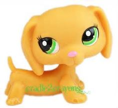 littlest pet shop lps solid orange dachshund dog rare variant 2597 ...