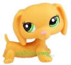 littlest pet shop lps solid orange dachshund dog rare variant 2597 ...