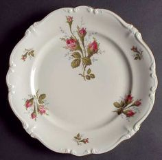 Rosenthal - ContinentalMoss Rose (Pompadour-Ivory Body,Off Center) at Replacements, Ltd