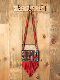 A woven bag but it could be a beaded bag just as easily.