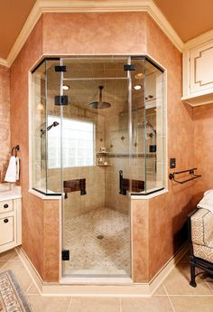 Bathroom Yurt i think these could be cool in the right application - leather