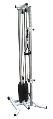 A flexible standard pulley with lightweight increments and the ability to change the exercise pull angle from a standing or seated position * Includes a single grip handle with adjustable range of motion allowing repeatable exercise positioning for patients , Features a 37.5 lb weight stack with a 2.5 lb top plate and 1.25 lb resistance changes * One Year Warranty for all parts * Five Year Warranty for all moving parts * 20 years on the frame d Pulley $2199.99