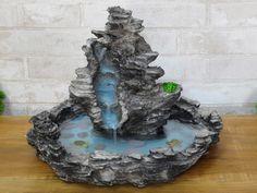 Fairy Fountain, Diy Water Fountain, Rock Fountain, Garden Water Fountains, Waterfall Fountain, Water Garden, Concrete Fountains, Stone Fountains, Faux Rock