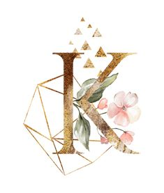 Shop Floral Geometric Polygon Golden Letter K Card created by JunkyDotCom. Monogram Wallpaper, Alphabet Wallpaper, K Wallpaper, Cute Girl Wallpaper, Cute Wallpaper Backgrounds, Galaxy Wallpaper, Flower Wallpaper, Cute Wallpapers, Whatsapp Wallpaper
